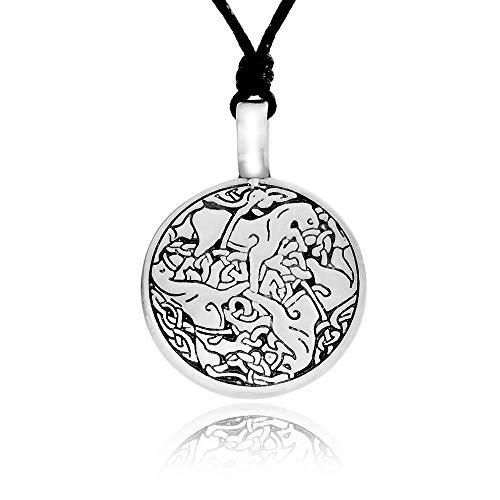 Namaste Jewelers Irish Triskelion Celtic Horse Pendant Necklace Pewter Jewelry