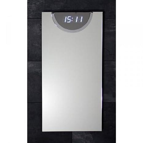 Espejo rectangular con reloj digital (sonido-control) 800 x 400 x 45 mm: Amazon.es: Hogar