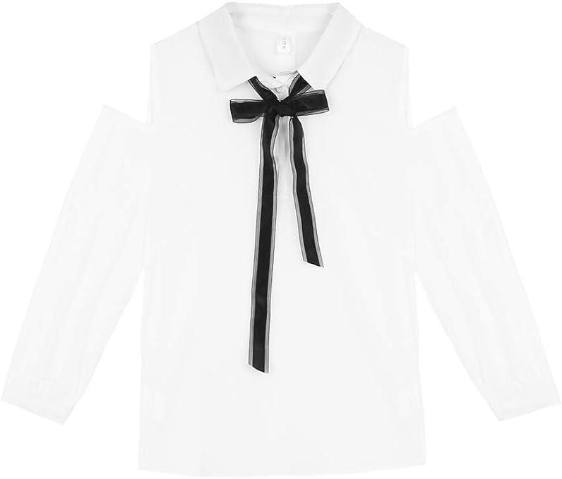 NZYQXGL Camisa Femenina 2019 Nueva Versión Coreana De Principios De Otoño Temperamento Dulce De Manga Larga Sexy Sin Tirantes con Cordones Camisa Marea Blanca M: Amazon.es: Deportes y aire libre