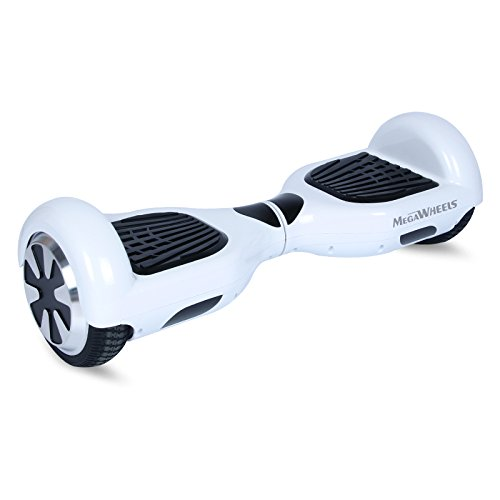 "Megawheels TW01 6.5"" UL2272 Hoverboard Two Wheels Self Balancing Electric Scooter (White)"