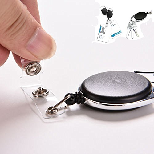 Hot Sale!DEESEE(TM)New Retractable Reel ID Badge Lanyard Name Tag Key Card Holder Belt Clip]()