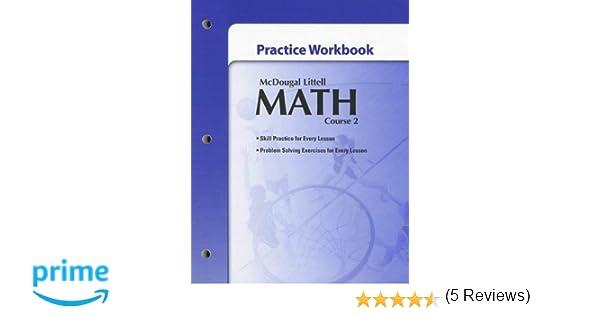 Mcdougal littell math course 2 practice workbook mcdougal littel mcdougal littell math course 2 practice workbook mcdougal littel 9780618746385 amazon books fandeluxe Choice Image