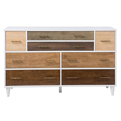8-Drawer Mid-Century Style Christian Rubber Wood Dresser With Metal Antique Pulls by I Love Living