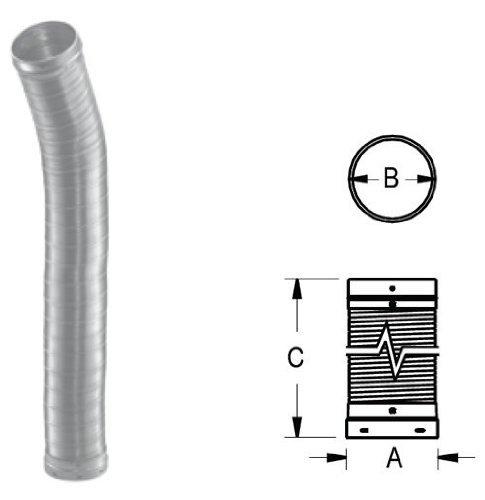 M & G Duravent 6DLR-60F DuraLiner 6 Inch x 60 Inch Round Flex Reline Pipe
