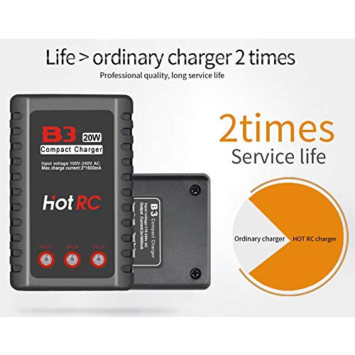 Wikiwand HOTRC B3 20W 1.6A AC Battery Balance Charger for 2S-3S RC LiPo Battery by Wikiwand (Image #7)