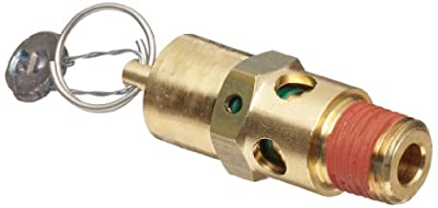 "Control Devices SA Series Brass ASME Safety Valve, 125 psi Set Pressure, 1/4"" Male NPT from Control Devices"
