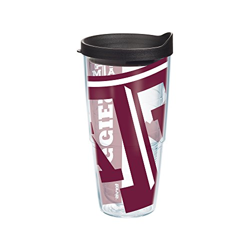 Texas A&m Aggies Tumbler (Tervis Texas A and M University Colossal Wrap Individual Tumbler with Black Lid, 24 oz,)