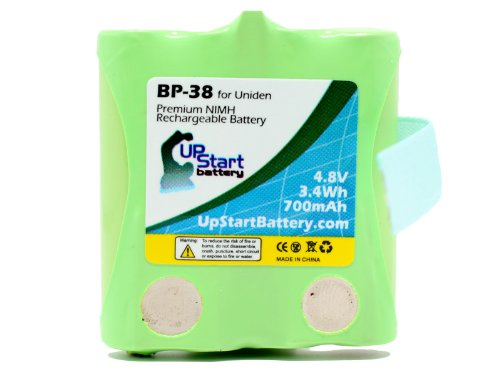 (BP-38 Battery for Uniden BP-40, GMRS/FRS Two-Way Radios (700mAh, 4.8V, NI-MH) - Compatible with GMR1838, GMRS, GMR1038-2, GMR, GMR648-2CK, GMR1048-2CK, GMR1038, GMR3699, GMR3689, GMR2889-2CK, GMR1588-2CK, GMR1558-2CK, GMR1038-2CK, GMR2238, GMR885, GMR855-2CK, GMR638, GMR635, BP-38, BP40, BP38, GMRS680-2)