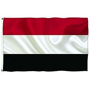 """Brisa Decor–Yemen banderas del mundo–Everyday Protector de impresión tradicional horizontal estándar bandera 36""""x 60"""""""