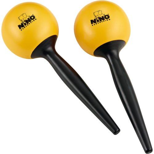 Nino Percussion NINO582Y ABS Plastic Maracas, Yellow
