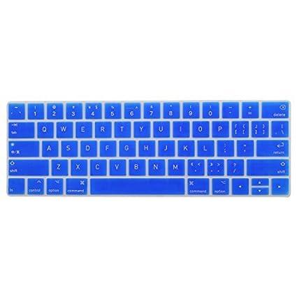 eDealMax portátil de silicona teclado de ordenador de la cubierta del Protector de la piel Azul