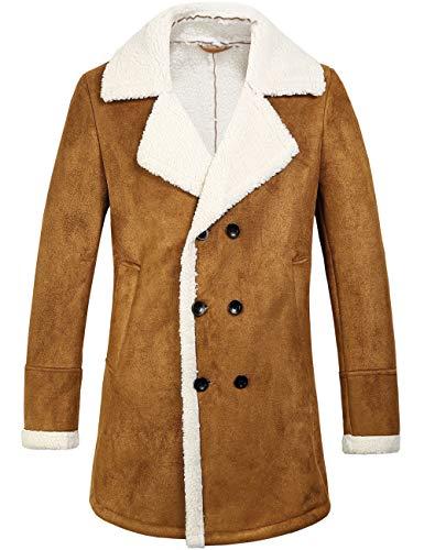 Fit Jacket Winter Wool Bend Peacoat (Large, Brown) ()