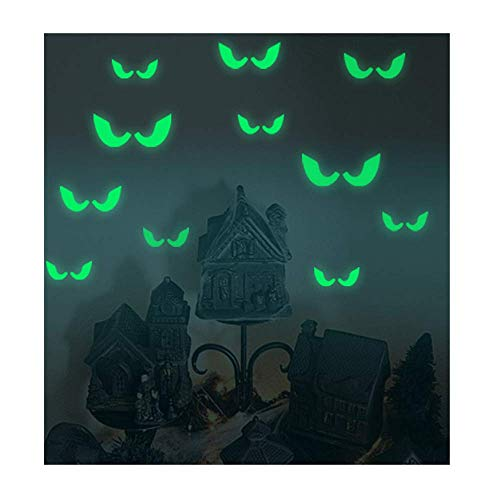 Halloween Luminous Wall Stickers Decals,Removable Wall Stickers Halloween Pumpkin/Peeping Eyes/Ghost Pattern Fluorescent -