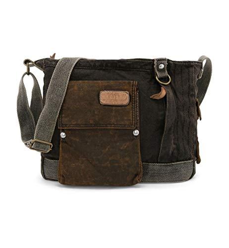 Bed Stu Men's Trapper John Utility Bag, Oilslick Black