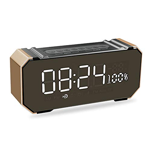 xingganglengyin Private Mode Alarm Clock Bluetooth Speaker Aluminum Wireless car subwoofer Computer Audio Radio by xingganglengyin (Image #2)