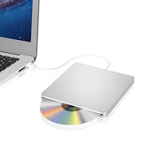 External CD Drive, Blingco Ultra Slim USB 2.0 Slot-in DVD RW Burner Drive, Portable CD Drive Writer for Apple Macbook, Macbook Pro, Macbook Air or Other Laptop PC Desktop Computer, Sliver