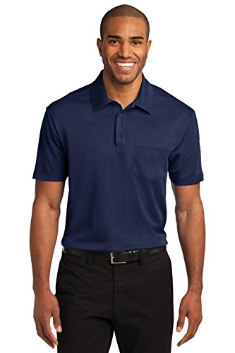 Knit Silk 100% - Port Authority Men's Silk Touch Performance Pocket Polo M Navy