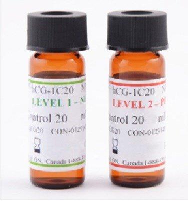 BTNX HCG-1C20NP Rapid Response P/N HCG 20mIU Controls (2 - 1 mL Vials) Sufficient for 5 +ve / 5 -ve QC Testing 1 EA