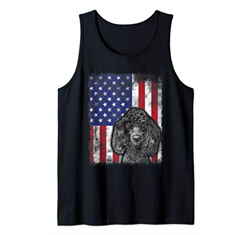 Poodle Tank - Poodle American Flag Shirt USA Patriotic Dog Gift Tank Top