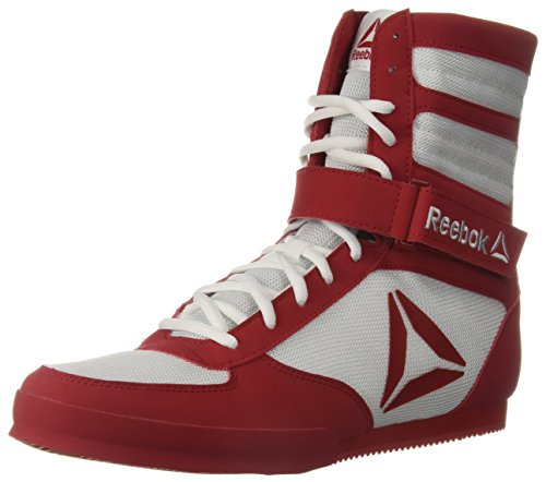 Reebok Men's Boot Boxing Shoe, White/Excellent red, 11 M US