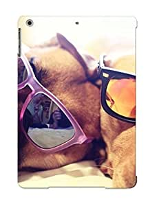 Podiumjiwrp Perfect Tpu Case For Ipad Air/ Anti-scratch Protector Case (dogs With Sunglasses ) by supermalls