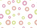 Pack Of 1, Blooming Hot Dots Cello Roll 1.0 Mil 40'' X 100' Made In USA For Spring, Easter & Birthday Gift Baskets