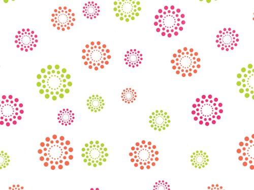"Pack Of 1, Blooming Hot Dots Cello Roll 1.0 Mil 40"" X 100"