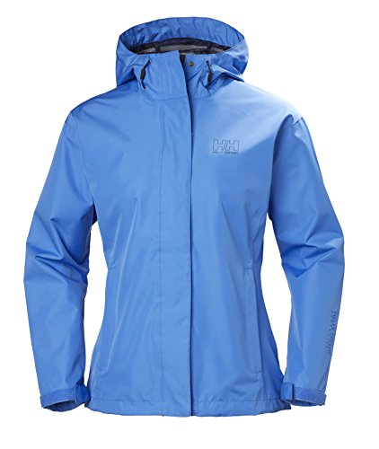 Helly Hansen Women's Seven J Waterproof Windproof Breathable Rain Jacket, 503 Blue Water, Medium