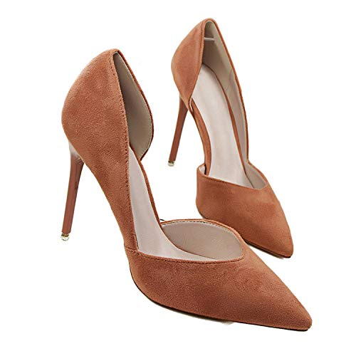 (Women Wedding Pumps Shoes New Women Party Pumps Women's Shoes Bridal High Heels Shoes Woman,Khaki,6)