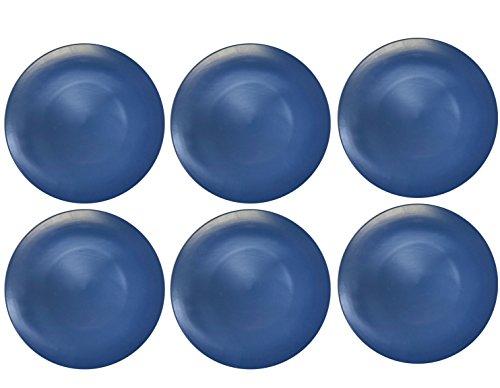 Mikasa 'Gourmet' Round Ceramic Dinner Plates, 28 cm - Blue (Set of 6)