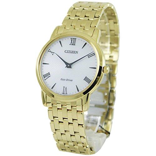 Citizen Stiletto Stainless Steel White Dial Gold Quartz Men's Watch AR1122-54A