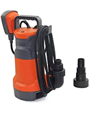 "FLUENTPOWER Sump Pump 1/3HP Submersible Pump, 2100 GPH Clean Dirty Water Pump, Included 3/4"" Standard Garden Hose Connector and Float Switch (2100 GPH)"
