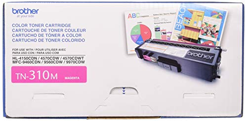 Brother Genuine TN310M Color Laser Magenta Toner Cartridge from Brother