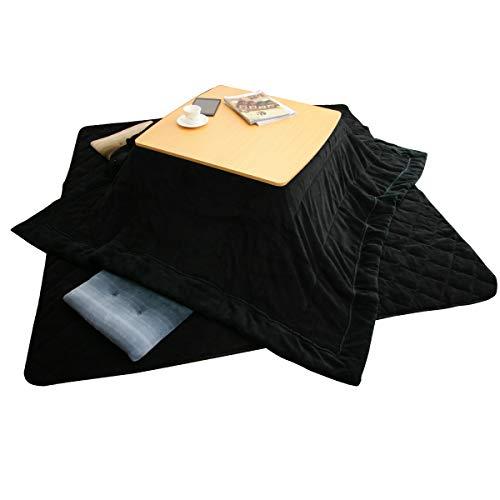 난로 이불 세트 대형 직사각형 마이크로 화이버(fiber) 부드럽게 난로 걸이깔개 이불 세트 215-020-2024 (블랙)