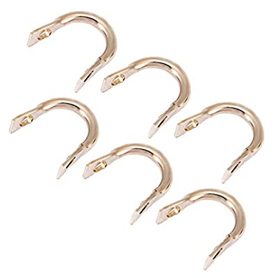 Festnight 50PCS Easy-Spin Clevises Spinner Stainless Steel DIY Spinner Fishing Lures Accessories : Clothing