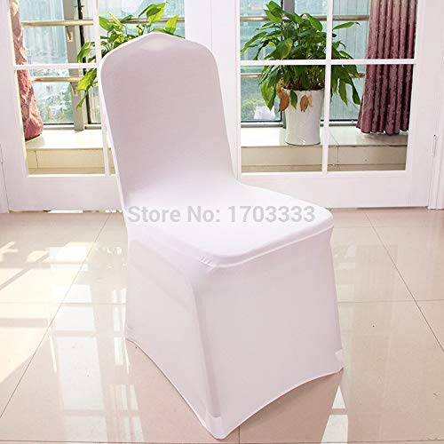 Chair Covers Weddings - Wholesale 200pcs Universal Polyester Spandex Wedding Chair Covers Folding El Decoration White Hc01 - Hot Leaf Cotton Peacock Sofa Event Piece Simple Plaid Spandex (Peacock For Sale Chair White)