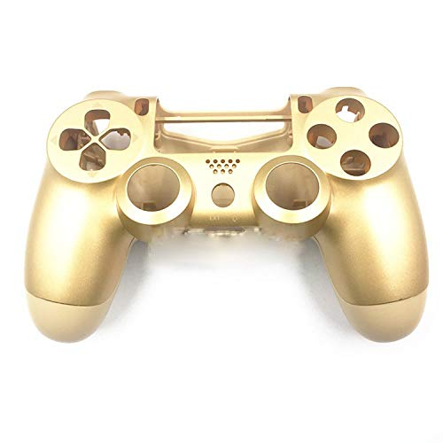 Front+Back Shell Housing Case Cover Protector for Sony PS4 Pro Wireless Dualshock 4 Pro Controller JDS040 JDM-040 Upper Housing Shell Case (Gold) (Ps4 Case Cover Shell)