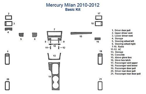 Mercury Milan Basic Dash Trim Kit - Oxford Burlwood