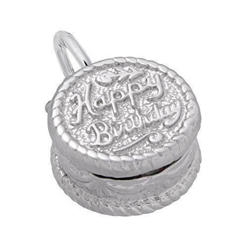 - Sterling Silver Happy Birthday Cake Charm