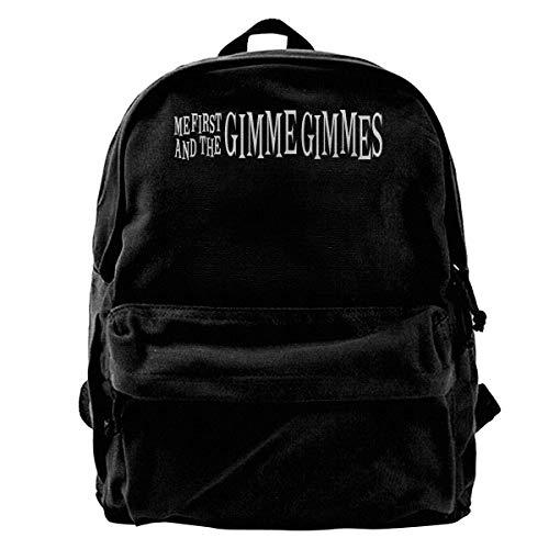 Canvas Backpack Me First And The Gimme Gimmes Logo Rucksack Gym Hiking Laptop Shoulder Bag Daypack For Men Women