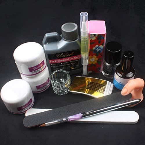 【US Seller,Ship from CA,US ] Anmas Rucci 120ml Nail Art Acrylic Liquid Powder Buffer File Brush Dryer Tools Kits