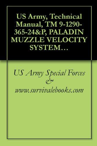 US Army, Technical Manual, TM 9-1290-365-24&P, PALADIN MUZZLE VELOCITY SYSTEM M93 UPGRADED, 2000