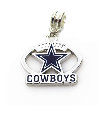 NFL Football CHARMS for bracelets WITH CONNECTOR, necklaces, diy projects. Silver plated (1'' х 1