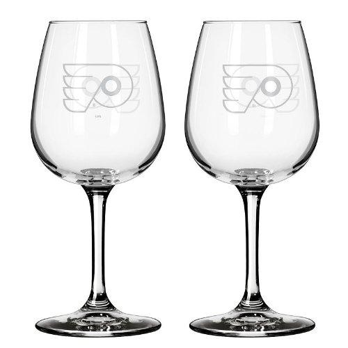 NHL Philadelphia Flyers Wine Glass, 12-ounce, (Nhl Flyer)