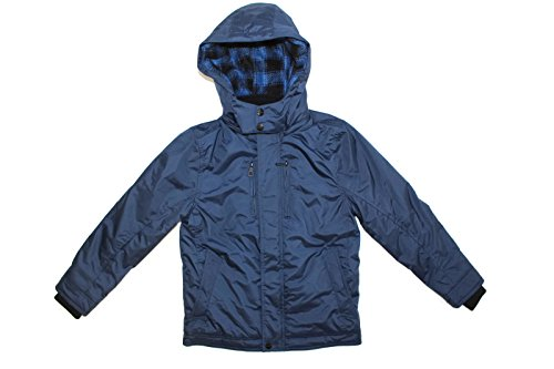 Urban Republic Boy's Heavy Weight Fleece Lined Hooded Jacket (Navy, Large (14/16))