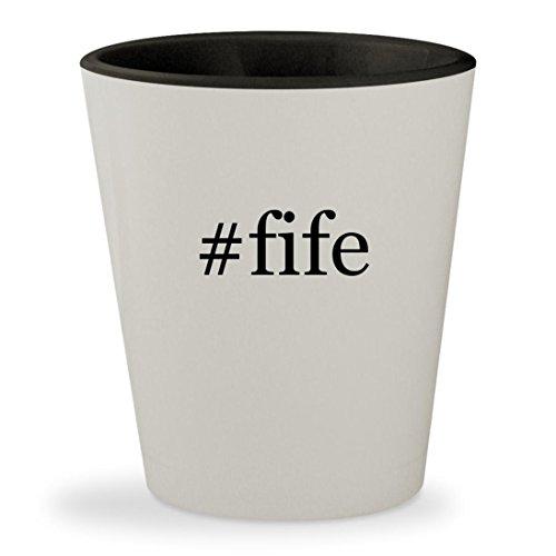 #fife - Hashtag White Outer & Black Inner Ceramic 1.5oz Shot Glass
