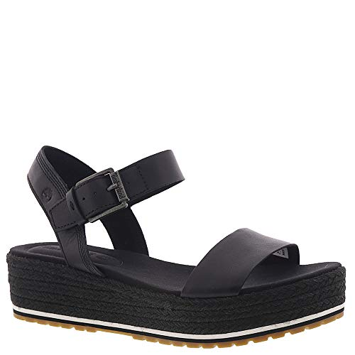 - Timberland Women's Santorini Sun Ankle Strap Sandal Black Full Grain 8.5 B US