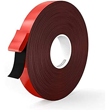 LLPT Double Sided Tape Black Acrylic Strong Mounting Tape 1 Inch x 550 Inch Multiple Sizes Available Removable Residue Free Waterproof Outdoor Indoor Adhesive