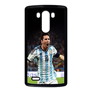 LG G3 Cell Phone Case Black messi brazil worldcup goal face sports art Rbaag