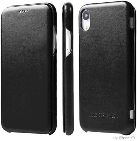 iPhone XR 6.1インチ 手帳型 極薄 ダイアリーケース 本皮 高級 牛革 ヴィンテージ レザー ハンドメイド 耐衝撃